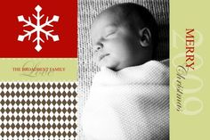 Photo christmas card #brown #argyle #card  sweetpapers