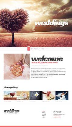 Template 50993 Wedding Responsive Website Templates Pinterest Design Development And Ui Ux