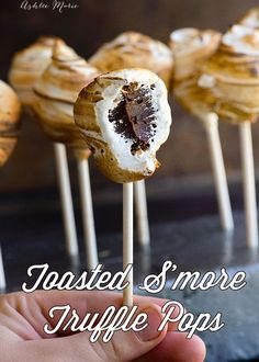Toasted S'more Truffle Pops - recipe and video