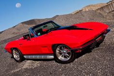 Some Corvette purists cringe when they see a restomod, but this 1967 Chevrolet Corvette is quite the exception as it has won numerous awards. 1965 Corvette, Corvette Summer, Chevrolet Corvette, Red Camaro, Little Red Corvette, Chevy Muscle Cars, Old School Cars, Cool Sports Cars, Sweet Cars