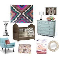 """My Bohemian Nursery"" by suzieb55 on Polyvore"
