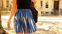 How to Sew a Skirt in One Hour from Sewing in a Straight Line author Brett Bara. (http://www.brettbara.com/how-to/book-video-how-to-sew-a-one-hour-skirt/#)