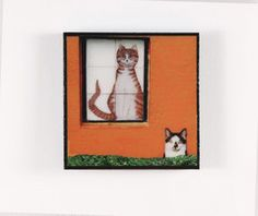 Cat Tile (Amsterdam) Magnets For The Fridge