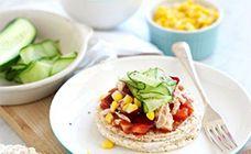 Cucumber And Tuna Rice Cake Refresher  Recipe - Healthy
