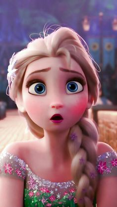 Elsa looks a little surprised and a bit sick. oh, poor Elsa. Watch her celebrate her sister's birthday in the new Frozen Fever short coming to theaters in March with the live action Cinderella movie! Frozen And Tangled, Frozen Movie, Frozen Elsa And Anna, Disney Frozen Elsa, Elsa Frozen Fever, Arendelle Frozen, Tangled Rapunzel, Elsa Anna, Disney And Dreamworks