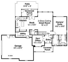 Contemporary Country Traditional Level One of Plan 59412