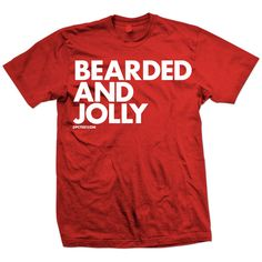 Bearded And Jolly Tee Red