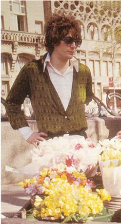 Syd Barret, beautiful hair, perfect sweater and sunglasses :)