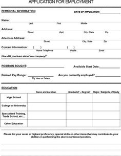 Pin by printable jobs applications on job application form pinterest job application form pdf download for employers maxwellsz