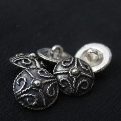 Silver Anglo-Saxon buttons. Reenactment. History. SCA.