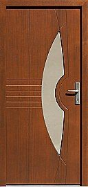 Drzwi zewnętrzne nowoczesne model 485,2 w kolorze orzech
