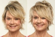 Medium Hairstyles With Bangs For Women Over 40 With Fine