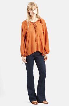 Topshop+Jacquard+Poet+Blouse+available+at+#Nordstrom