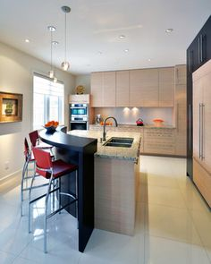 Throwing A Curve contemporary kitchen