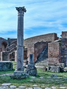 Roman Remains of the ancient port city of Ostia Italy