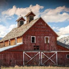 Barns . Something like this for my 'under the tree village'.