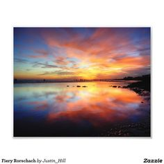 Fiery Rorschach :- Shot on Brighton beach on the South coast of England during a very low perigee tide. The sunset lit up the evening sky and was caught reflecting in the seawater that had been left behind.   #sunset #brighton #coast #sea #beach #evening #twilight #water #calm #reflection #relaxing #beautiful #fiery
