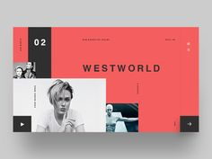 Westworld season 2 by Arnob Chakma App Ui Design, Interface Design, Page Design, Webdesign Inspiration, Web Inspiration, Web Layout, Layout Design, Design Ideas, Westworld Season 2