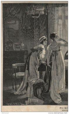 """Die Heimkehr des Geliebten  - Druck, entnommen  aus """"die Gartenlaube"""", 1909"""