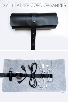 DIY Leather Cord Organizer | Whimseybox