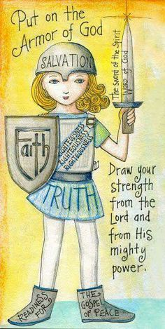 Armor of God. Artist unknown. Via Peaceful Moments for Women fb.