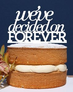 Wedding Cake Topper,we decided on forever,engagement cake topper,wedding cake topper,custom cake topper, monogram cake toppers, home decor
