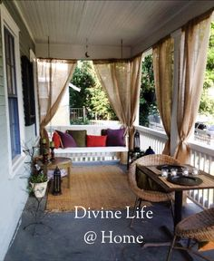 The porch is ready for Summer Nights with friends.  #divinelifeathome #thedivinelifeplayhouse