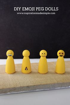 DIY Emoji Peg Dolls