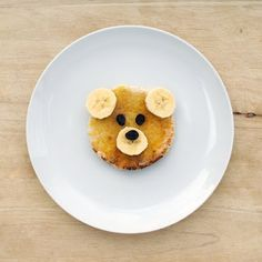Cute idea for kids...I would use blueberries instead of raisins though.