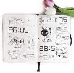 10 idées de page Daily log pour votre bullet journal ! Vue journalière