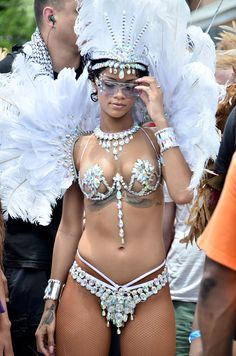 Rihanna - Kadooment Day Parade in Barbados - August 5, 2013