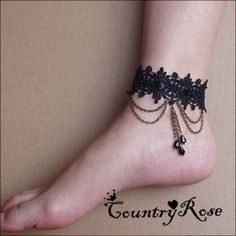 Anklets, Ornament / fashion jewelry, DIY jewelry lace custom anklets fashion European and American female Korean fashion jewelry Peng Ke Gete wristbands