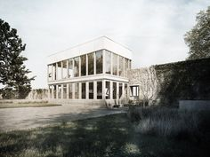Peter + Alison Smithson / Upper Lawn Pavilion 3D Recreation by Lasse Rode - 3D Architectural Visualization & Rendering Blog