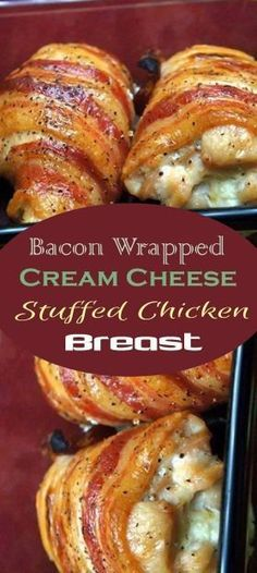 bacon wrapped cream cheese stuffed chicken recipe dinner cream cheese 15 Keto Bacon Recipes You'll Drool Over - Whole Lotta Yum Low Carb Recipes, Diet Recipes, Healthy Recipes, Recipies, Zoodle Recipes, Chicken Breast Recipes Healthy, Bacon Chicken Recipes, Delicious Recipes, Bonless Chicken Recipes