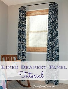 Lined Drapery Panel Tutorial