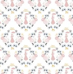 aeb42039fab Mary Poppins Fabric Collection - White Damask Mary Poppins with Gold  Metallic Fabric from Camelot Fabrics - Priced by Half Yard Increments