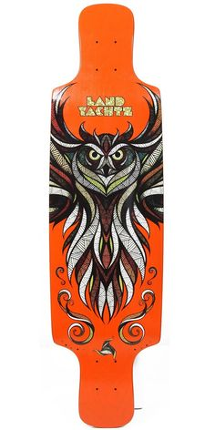 38' longboards owl design