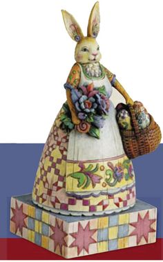 jim shore easter | Easter Bunny Mama with Basket of Eggs by Jim Shore Heartwood Creek ...