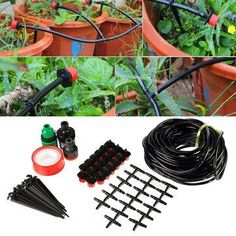 NewChic - NewChic Details about DIY Micro Drip Irrigation System Plant Self Watering Outdoor Garden Hose Kits - AdoreWe.com