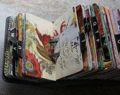Vintage rolodex scrapodex collage journal (4)