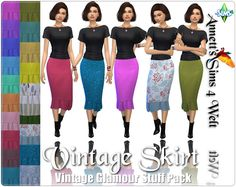 Sims 4 CC's - The Best: Vintage Glamour Skirt - Recolors by Annett85