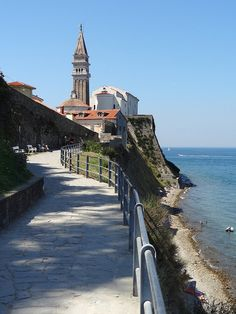 The small village of Fiesa, near Piran, Slovenia (by peter++).
