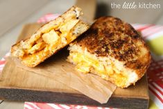 BBQ CHICKEN GRILLED CHEESE SANDWICHES!  This sounds really good too.  You know, when it gets cold outside I love tomato soup with a grilled cheese sandwich.  Don't you!