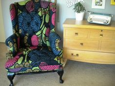 Shop for chair on Etsy, the place to express your creativity through the buying and selling of handmade and vintage goods. Furniture Projects, Cool Furniture, Armchair, Wingback Chairs, Warm And Cozy, Old And New, Color Pop, Sofas, Love Seat