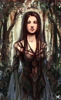 In the woods by Aerenwyn.deviantart.com on @DeviantArt