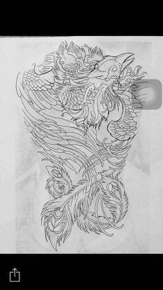 New tattoo designs for women dragon ideas Japanese Phoenix Tattoo, Small Phoenix Tattoos, Phoenix Tattoo Design, Time Tattoos, New Tattoos, Sleeve Tattoos, New Tattoo Designs, Tattoo Designs For Women, Chest Tattoo