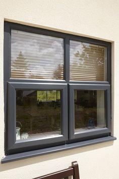 Dark grey UPVC windows very sophisticated!