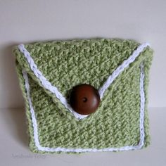PadPouch knitted in sage by handmadefuzzy, $6.50 USD