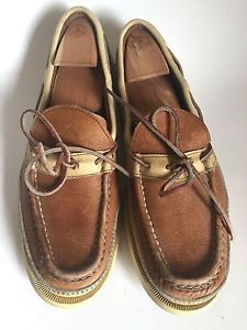 3d5a4d3fd49 Russell Moccasin Leather Loafers Slip On Shoe Slipper Tan Leather Size 12 AA