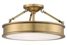 "Master Sleeping ares: OKL - Daria 3-Light Semi-Flush Mount, Gold; 19""Dia. x 9.75""H; $249"